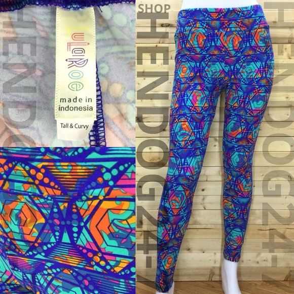 """New with Tags! Size /""""Tall /& Curvy/"""" LuLaRoe Womens Leggings"""
